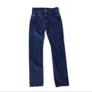 Vintage Levi's 501 Straight Leg Jeans Dark Wash 29